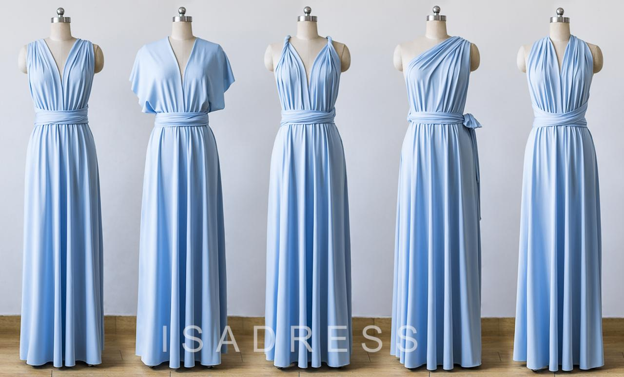 597c913788 Light Blue Maxi Infinity Dress